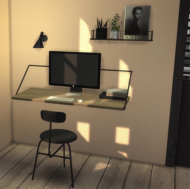 Menu Rail Desk for The Sims 4