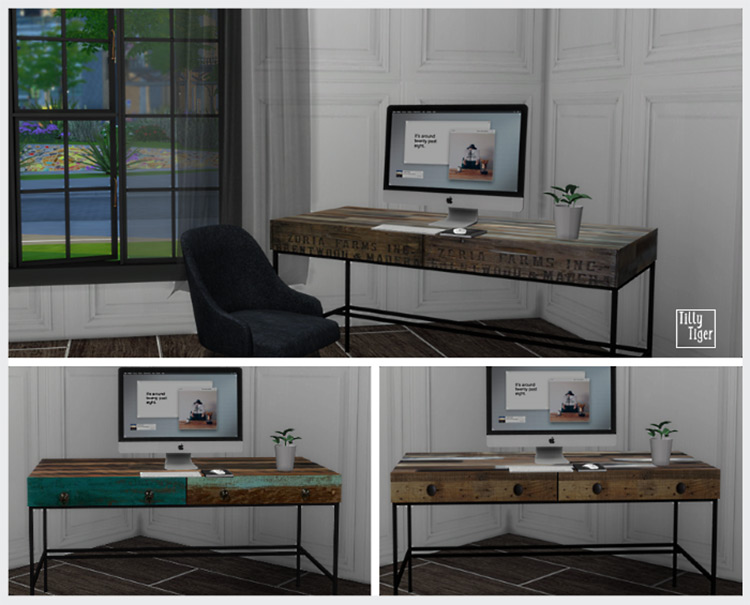 Custom Reclaimed Desk / TS4 CC