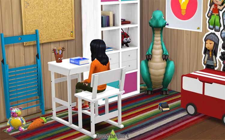 School Desks Set / Sims 4 CC