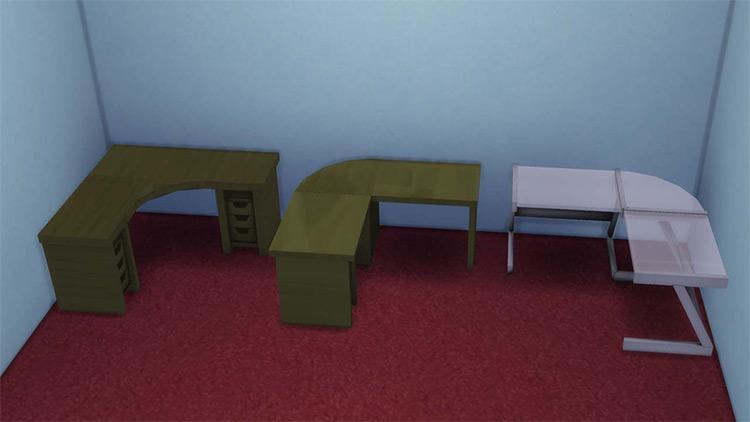 L-Shaped Desk / Sims 4 CC screenshot