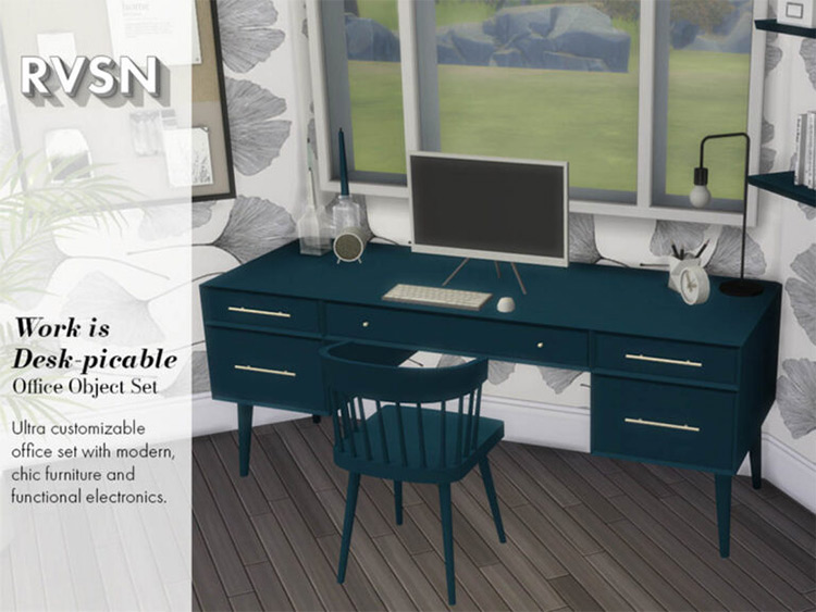 Work Is Desk-picable Set / TS4 CC
