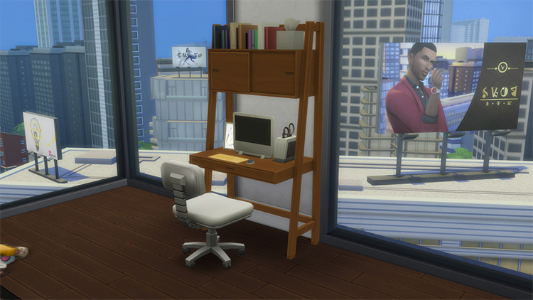 Desk With Cabinet CC for The Sims 4