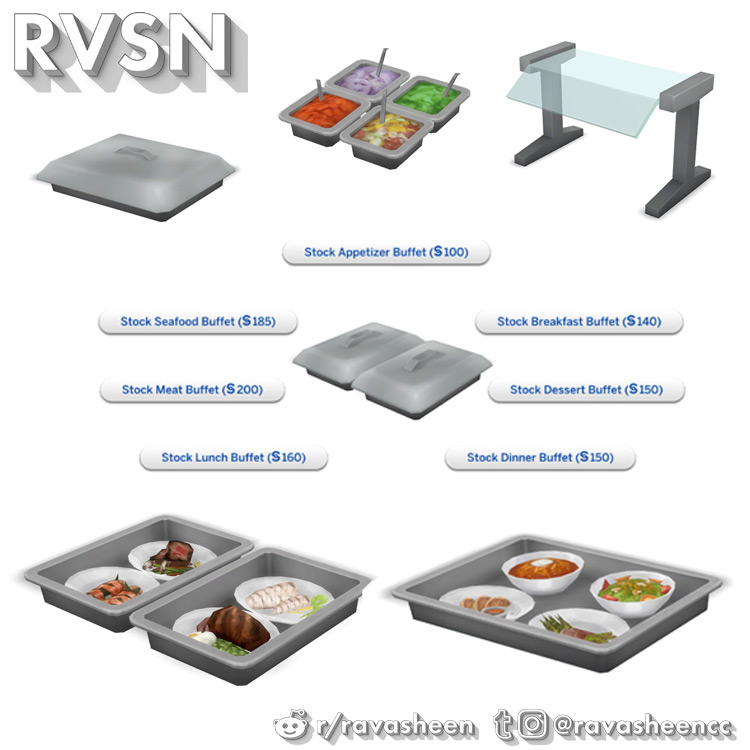 Shop Chef Buffet for The Sims 4