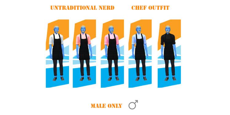 Custom Chef Outfit #2 / TS4 CC