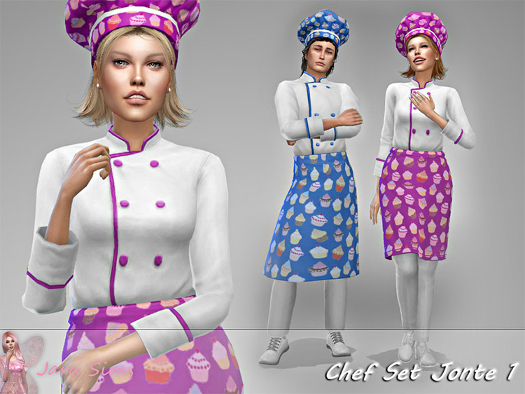 Chef CC Set For The Sims 4
