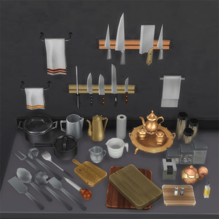 Kitchen Clutter Set for The Sims 4