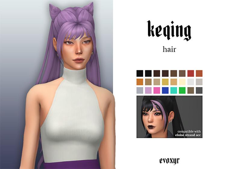Genshin Keqing's Hairstyle / Sims 4 CC