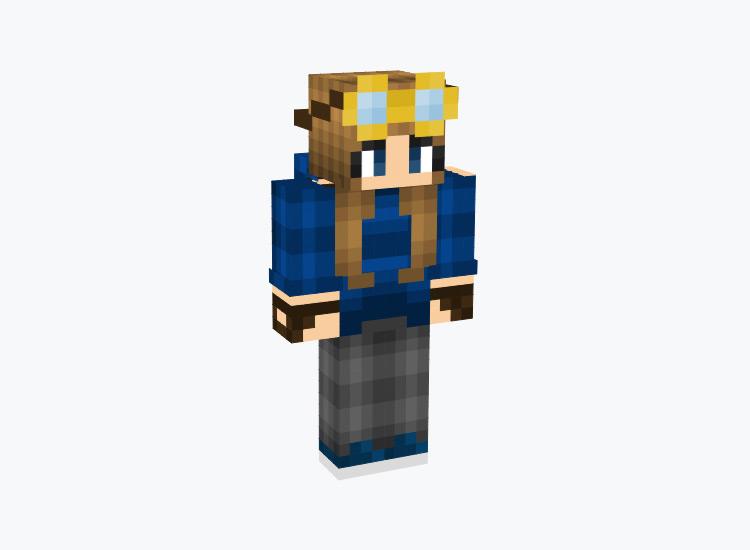 Steampunk Female Time Traveler / Minecraft Skin