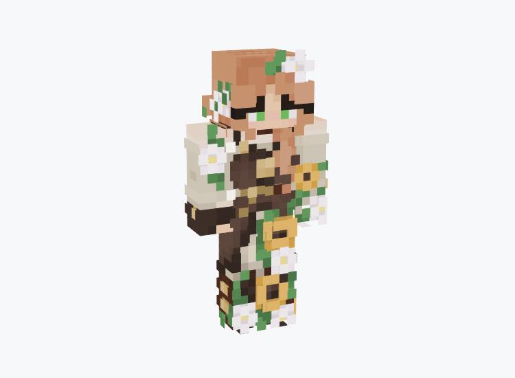 Sunflower Steampunk Girl / Minecraft Skin