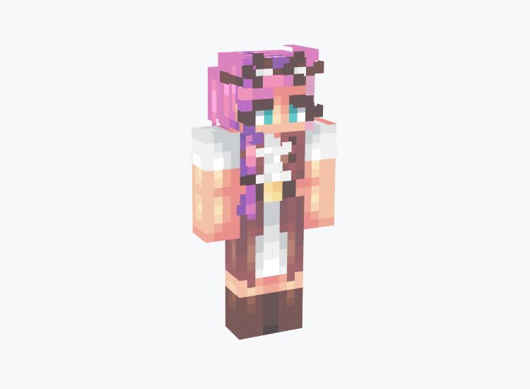 Steampunk Girl With Pink Hair / Minecraft Skin