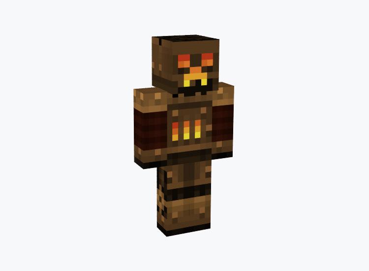 Steambot Creeper Character / Minecraft Skin