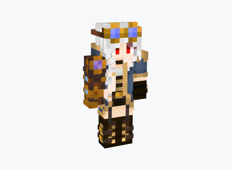 Female Steampunk Vampire / Minecraft Skin