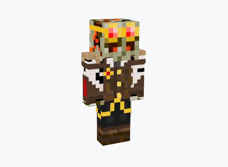 Undead Skeleton Steampunk Engineer / Minecraft Skin