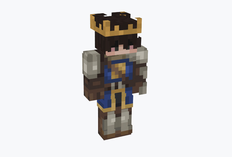 Male Armored King Character / Minecraft Skin