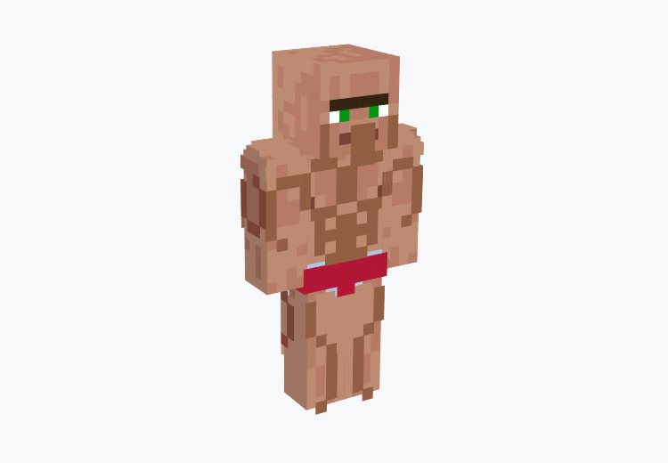 Muscley Villager Character / Minecraft Skin