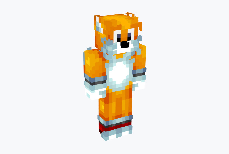 Tails from Sonic Minecraft Skin