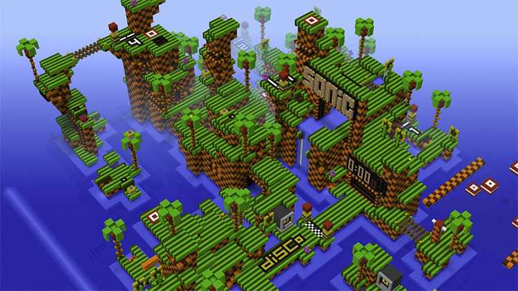 Sonic the Hedgehog Map Mod for Minecraft