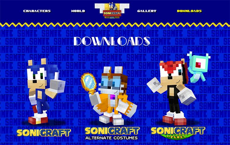 Sonicraft Mod Website Screenshot