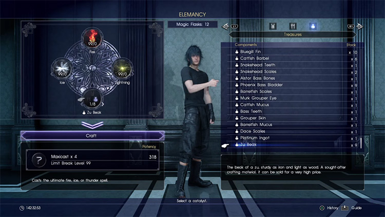 Maxicast Elemancy in FFXV screenshot
