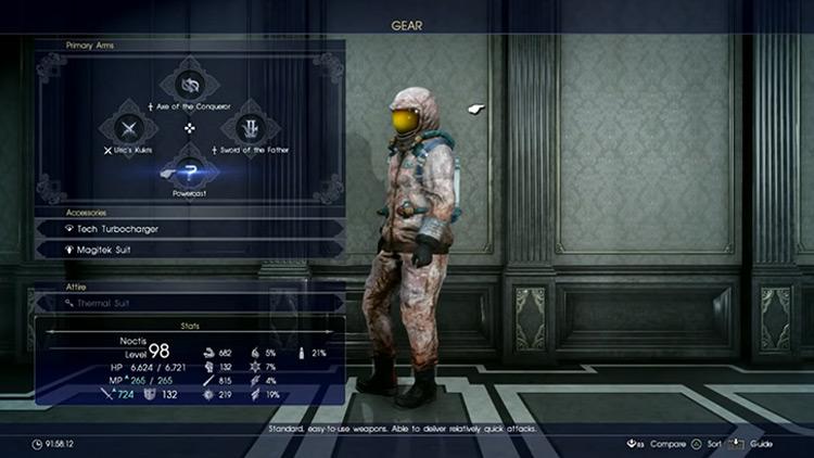 Powercast Elemancy in FFXV screenshot