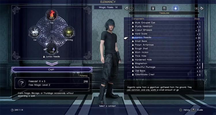 Freecast Elemancy in FFXV screenshot