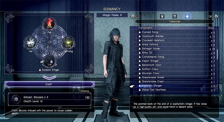 Killcast Elemancy in FFXV screenshot