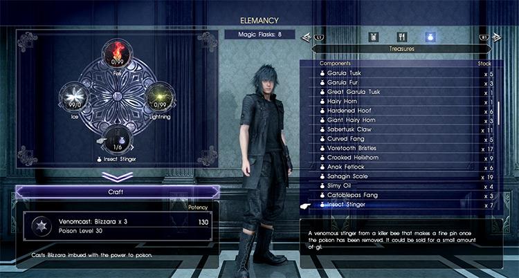 Venomcast Elemancy in FFXV screenshot