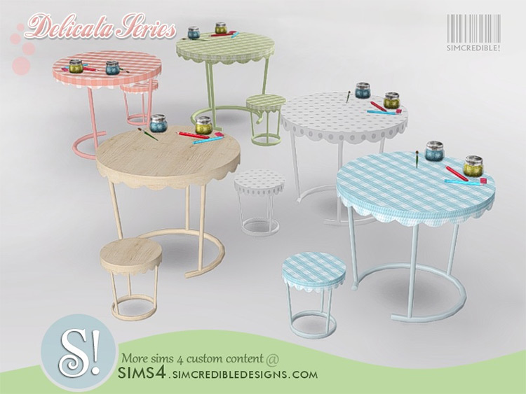 Sims 4 CC Delicata Kids Activity Table