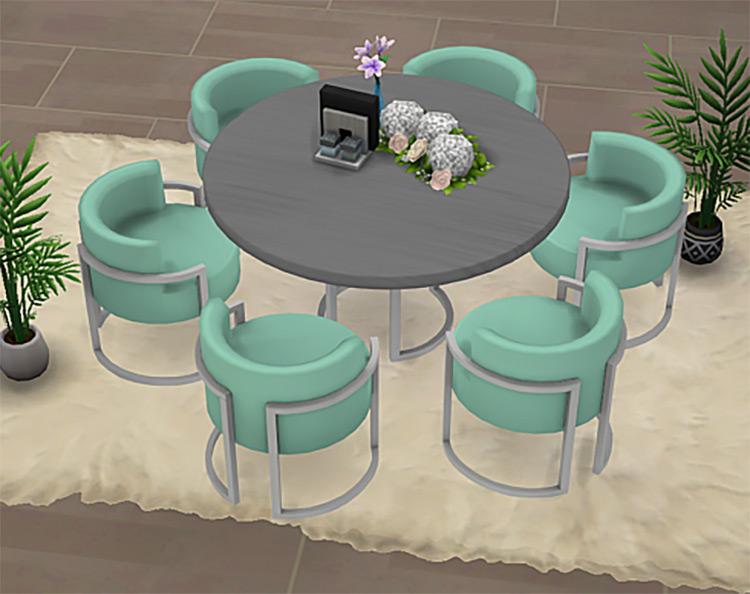 Sims 4 CC Lora Dining Room Set