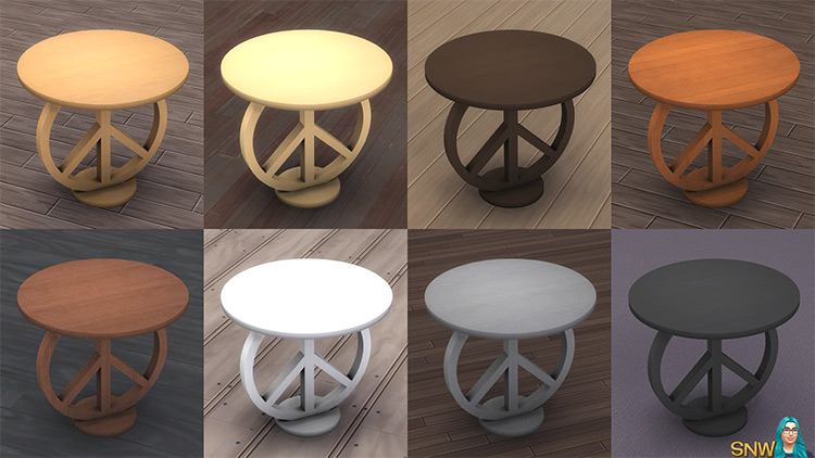 Sims 4 CC Peace Love Hippieness End Table