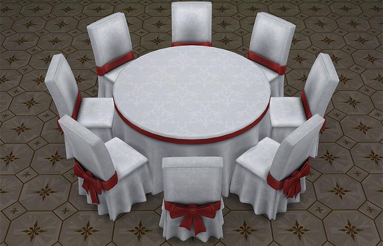 Sims 4 CC Festive Dining Tables
