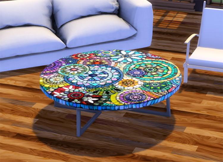 Sims 4 CC Eco-Round Coffee Table
