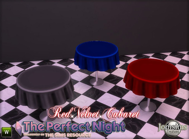 Sims 4 CC The Perfect Night Cabaret Table