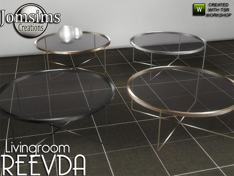 Sims 4 CC Reevda Coffee Table