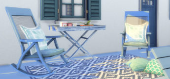 Mykonos Greece Rocking Chairs in The Sims 4