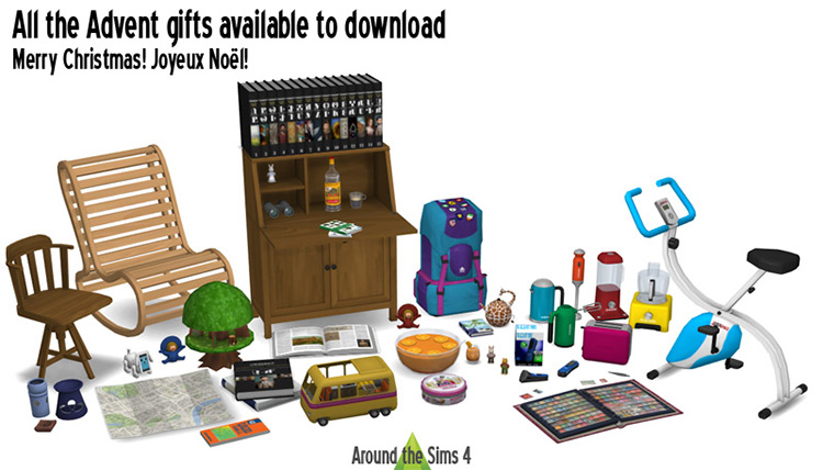 David Trubridge Living Rocking Chair Set / Sims 4 CC