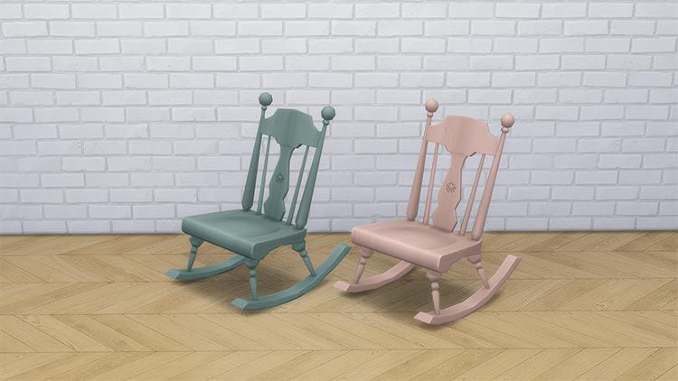 Armless Rocking Chair / Sims 4 CC