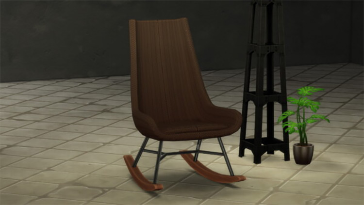 RÖOCK Designer Rocking Chair for The Sims 4