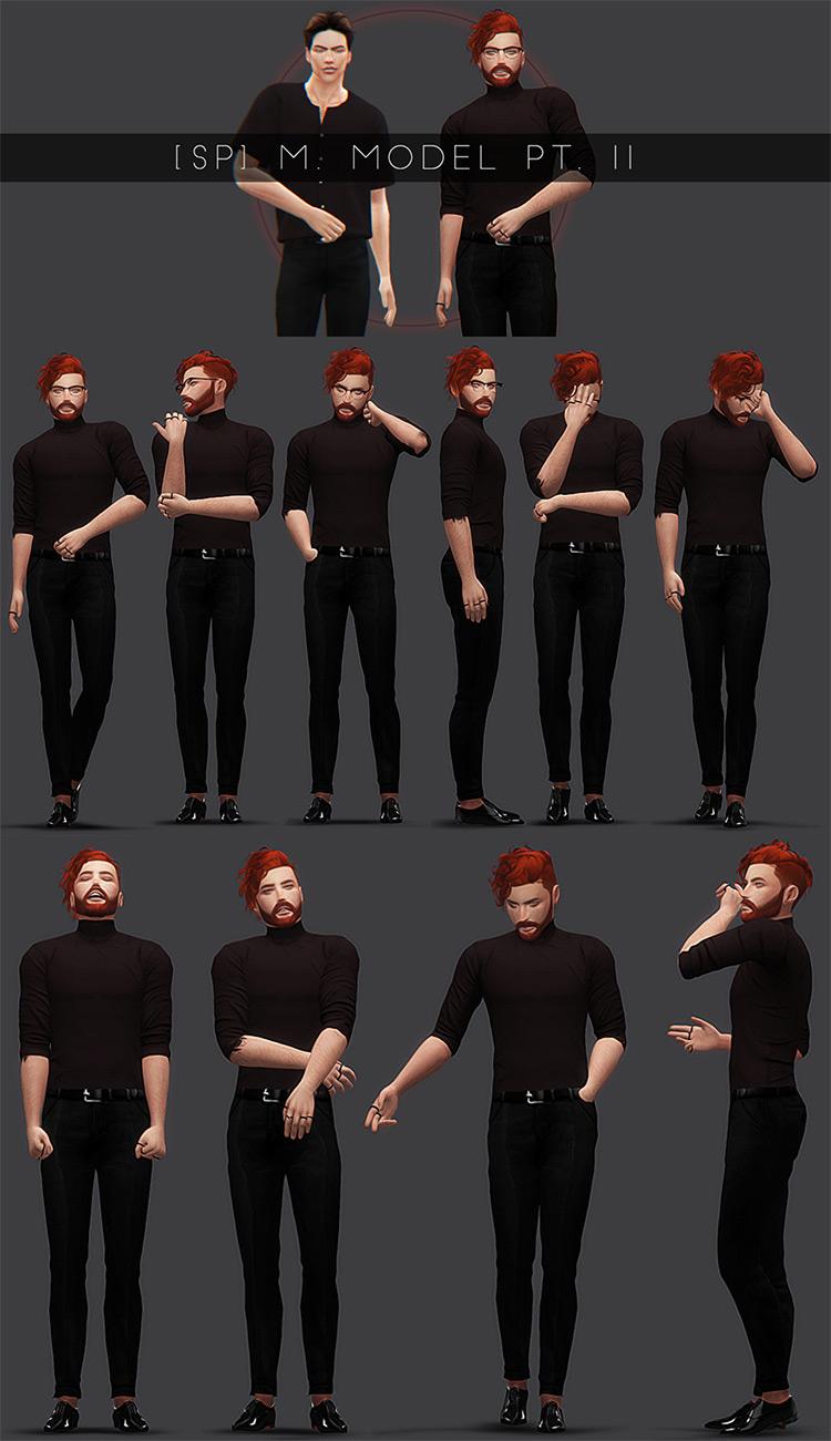 M&F Model Poses / Sims 4 CC