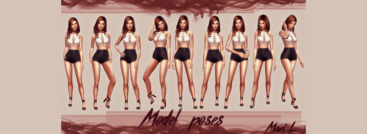 Mari L's Model Poses for The Sims 4