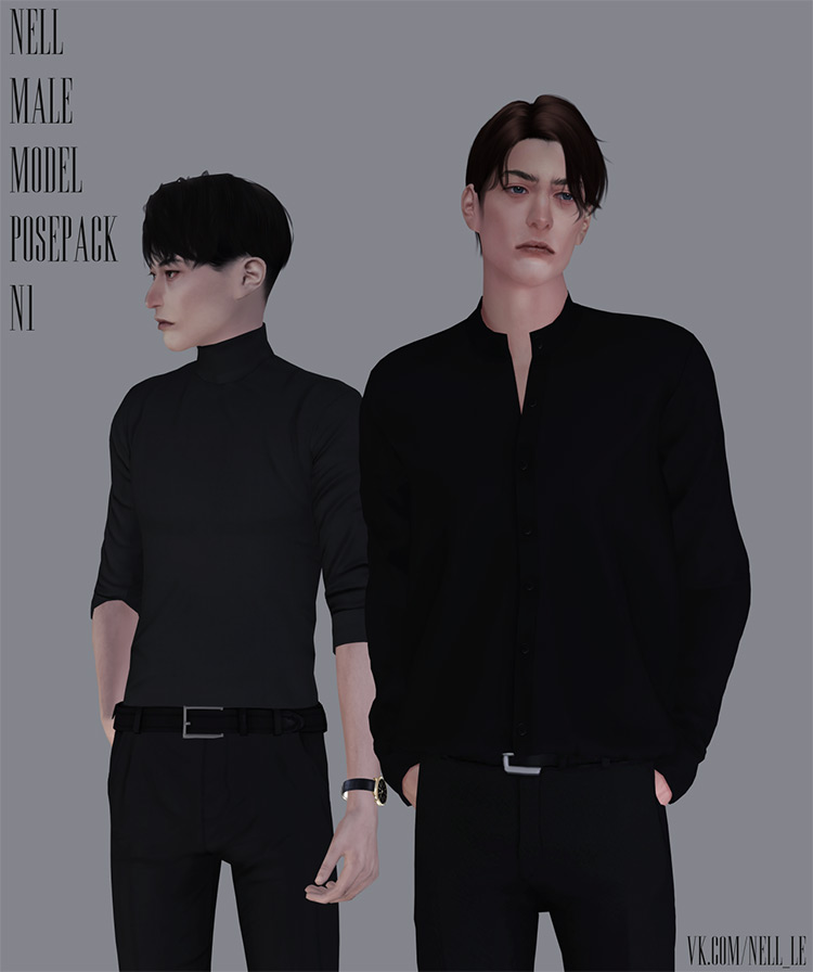 Male Model Pose Pack / Sims 4 CC