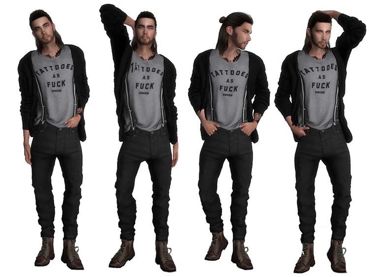 Raygun's Male & Female Model Poses / TS4