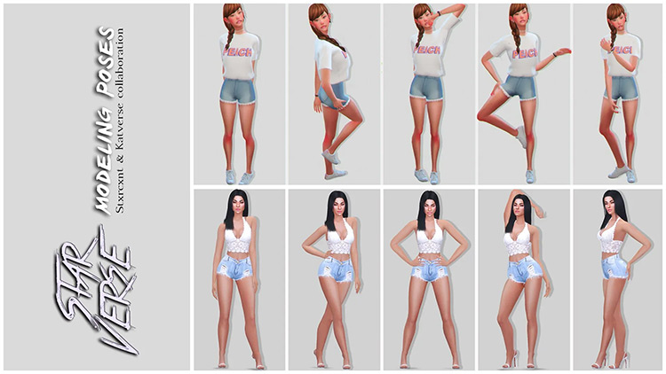 StarVerse Modeling Poses Set / The Sims 4