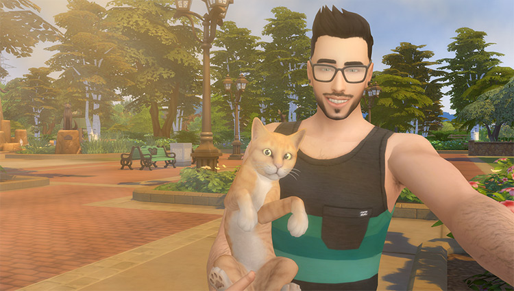 Show Your Pets! Selfie Poses for The Sims 4