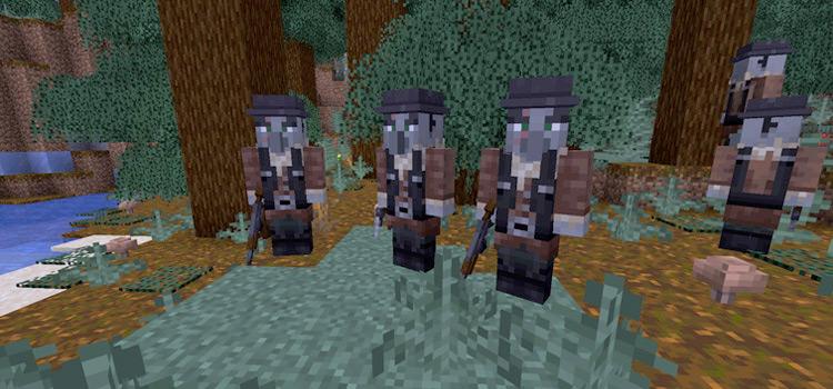 Warm Gun Villagers Combat Mod for Minecraft