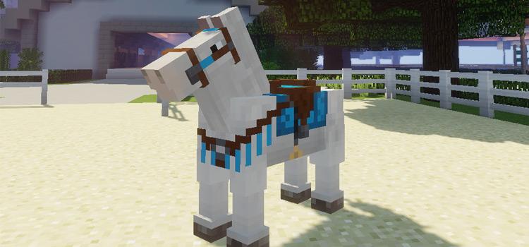 White Minecraft Horse / MC Horse Tack Mod