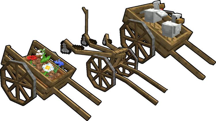 Astikorcarts mod for Minecraft