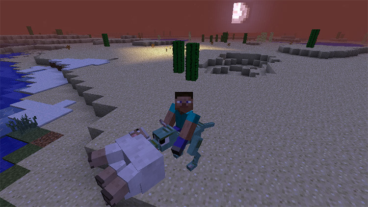 Animal Bikes mod for Minecraft