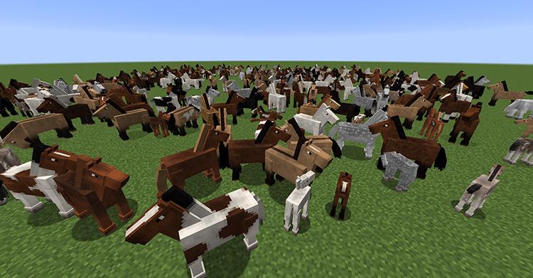 Realistic Horse Genetics mod for Minecraft