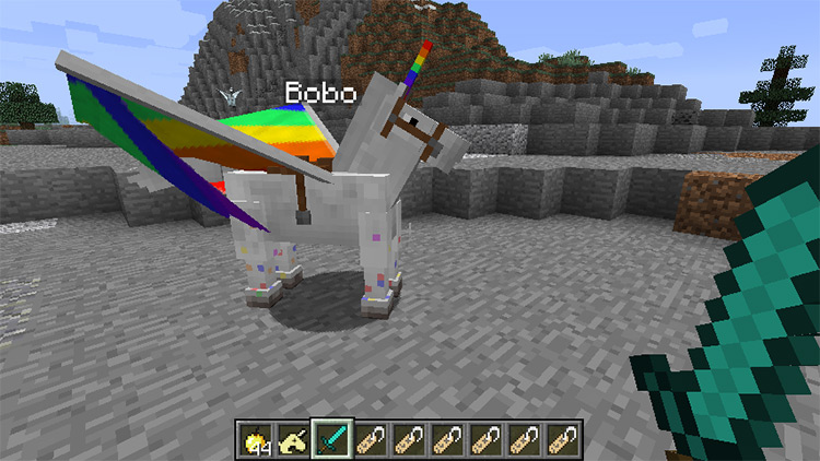 Wings, Horns & Hooves mod for Minecraft